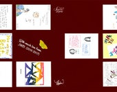 RESERVED  Teacher's Scarf School Children Drawings Letters Digital