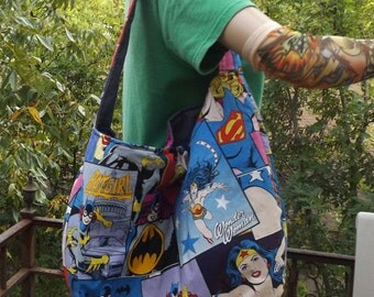 Girl Power Comic  Slouch /  Hobo Style Bag