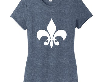 Fleur De Lis Women's Fitted T-Shirt