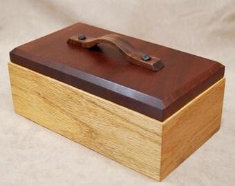 Reclaimed Oak and Makore Trinket, Keepsake, or Jewelry box