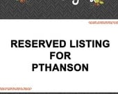 Reserved Listing for PTHANSON