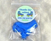 Roller Skate Party Favors Crayons, Boy Roller Skate Stickers, Recycled Crayons, Total of 35 Crayons and 35 Sticker. Boy Party Favors.