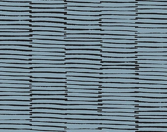 Maker Maker Lines Fabric in Grey (ALN-8457-C) - HALF Yard - by Sarah Golden for Andover Fabrics
