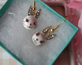 Bunny Rabbit Earrings,Easter,Rabbit