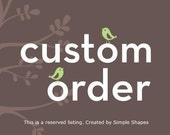 Custom Listing for Christy Y