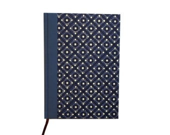 Large Weekly Planner 2018, DIN A5 Blue Black Pinny Pattern, 50s Design Agenda