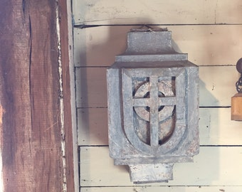 Galvanized downspout cover   church   salvage   rustic   home decor