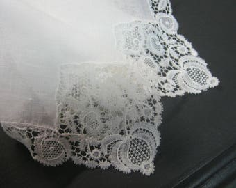 Gift for Bride - Vintage Lace Handkerchief