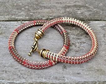 Fabric Weave No. 6/7 Bead Crochet 7 Patterns and Kit for Miyuki Delicas 2 Bracelet set