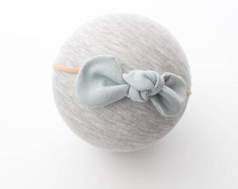 Soft blue knot nylon headband | light blue headband | baby girl headband | simple headband | knot haedband | baby headband | infant bow