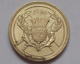 Scotland 1986 XIII Commonwealth Games Two Pound Coin