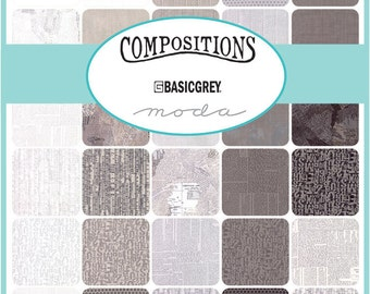 Compositions 2.5 inch Jelly Roll by Basic Grey for Moda - New IN Stock 100% cotton
