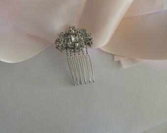 Wedding Bridal Crystal Side Small Hair Combs, Birdcage Veil Combs, Veil Hair Clips