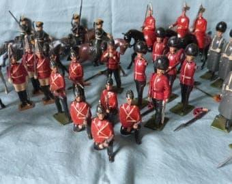 Britains Lead Soldiers Lot of 37 - 1950s Vintage