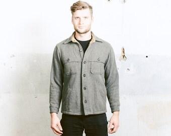 Vintage WOOLRICH Wool Shirt . 80s Vintage Mens 1980s Work Shirt Autumn  Mackinaw Wool Jacket Boyfriend Gift . Small Medium Large