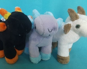 Goat Plushie CHOOSE YOUR COLORS Made to order