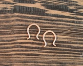 After Christmas Sale Rose Gold Teardrop Threader Earrings - 14k Rose Gold Fill - 18 gauge