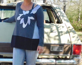 Upcycled Tunic, Loose Fit, Upcycled Clothing, Repurposed Dress, Playful Clothing, Patchwork Dress, Fun Clothing