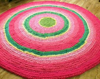 Crochet rug/rug/area rugs/round rag/handmade crochet rug/nursery rugs/rag rug/handmade crochet rug/large floor rug