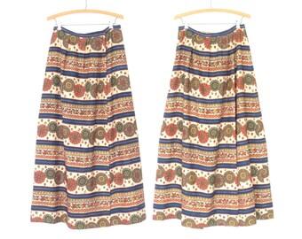 60s Maxi Skirt * Bohemian Pant Skirt * Vintage 1960s Wrap Skirt * Large