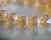 50pcs Frosted Crystal Round Beads 12mm, Faceted Glass Ball Beads, Matte Gold Champagne (TS75-2)