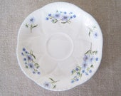 "Shelley Blue Rock Orphan Saucer 5 1/2"" Fine Bone China England English Floral Blue"