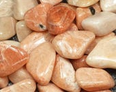 Peach Pink Moonstone Tumble Polished Crystal Stone, 1 pc, Sizes 1 to 1.6 Inch, TS1067