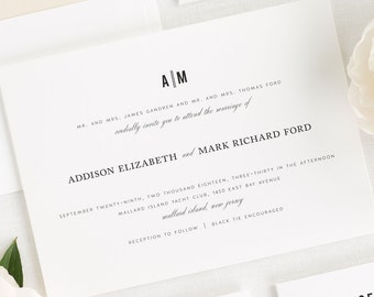 Urban Vintage Wedding Invitations - Sample