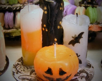 12th Scale Doll House Set of Spooky Halloween Candles