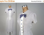 SALE 1940s office wiggle dress • vintage 40s dress • tuxedo day dress
