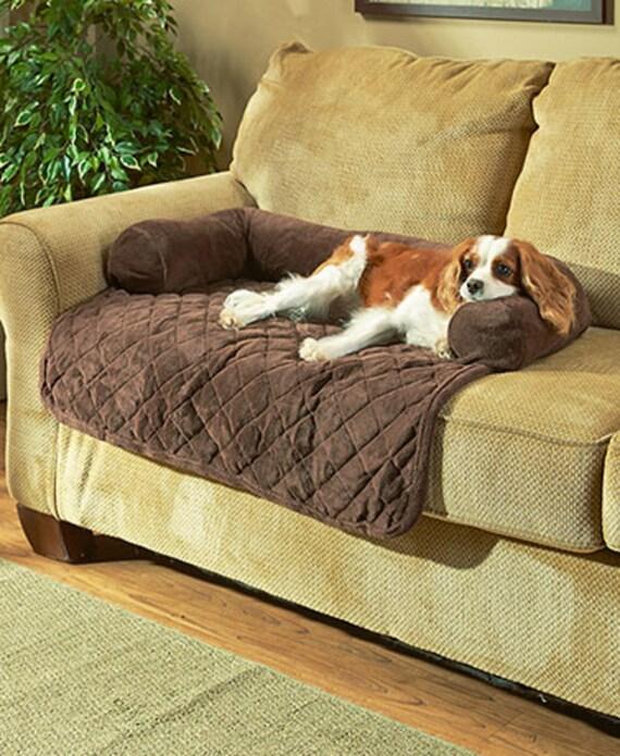 embroidered plush bolster pet bed 36 inch. Black Bedroom Furniture Sets. Home Design Ideas