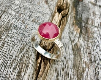 Rose Cut Ruby Cocktail Ring