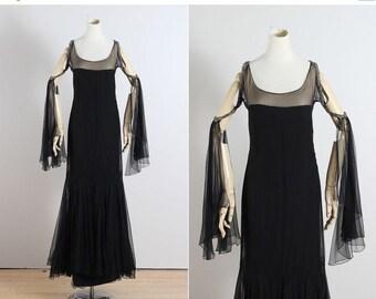 30% SALE Enchanted Moonlight . vintage 1920s dress  . vintage flapper dress . 5447