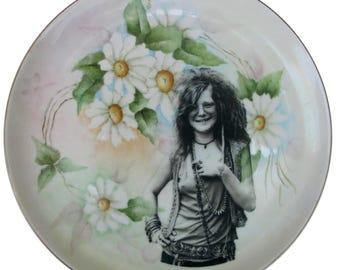 """Janis Joplin Portrait Plate 9.65"""""""