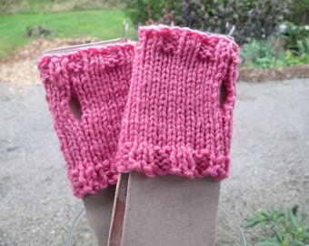 Pink Toddler Fingerless Gloves by SuzannesStitches, Kids Fingerless Gloves, Girls Pink Fingerless Gloves, Pink Fisties, Toddler Pink Fisties