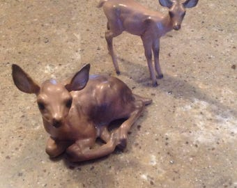 Adorable Josef Originals Deer Figurine Japan Porcelain Family Set of 2