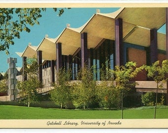 Getchell Library University Nevada Reno postcard