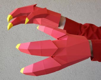Create Costume Claws for a Dragon or Dinosaur That Really Move! | Halloween Costume | Dinosaur Claws | Dragon Claws | Papercraft