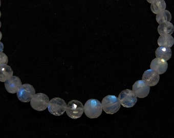 Rainbow Moonstone - AAA - High Quality - So Gorgeous Micro Cut Round Ball Beads Nice Blue Flashy Fire size 5 mm 8 inches  - 40 pcs