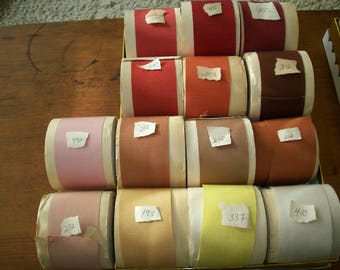 "Vintage Petersham cotton/rayon ribbon  2 1/8"" more colors"