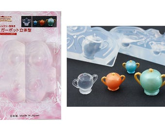 DIY Grace 3 sizes 3D Teapot High Quality Silicone Soft Mold For Clay / Resin / UV Resin/ Soap from Japan GR-137
