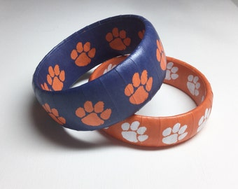 Clemson Bracelet - Clemson Tigers - Clemson Accessories - Graduation Gift - Clemson Jewelry - Clemson Football - Licensed Clemson Gear