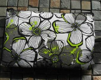 modern flower print large padded bag