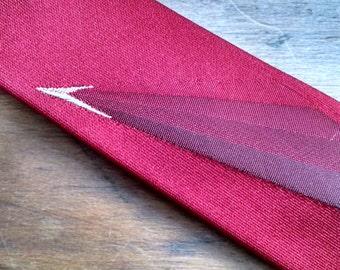Mid Century Modern skinny red tie