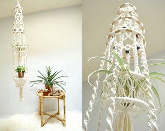 Macrame Plant Holder  //   Double Macrame Plant Hanger  //  THE OSLO