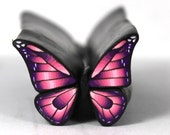 Raw Pink Polymer Clay Butterfly Cane