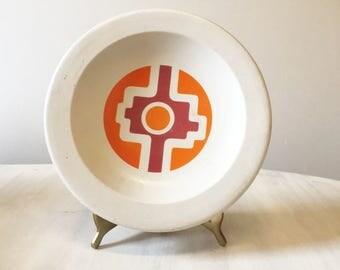 Retro dish, pottery dish, vintage dish, vintage pottery, ceramic dish, vintage ceramic, vintage ashtray, pottery ashtray, vintage stoneware