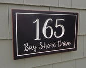 House Number Plaque | Address Plaque | House Sign | House Numbers | Street Sign | Address Sign | Carved Address Sign | Custom Address Sign