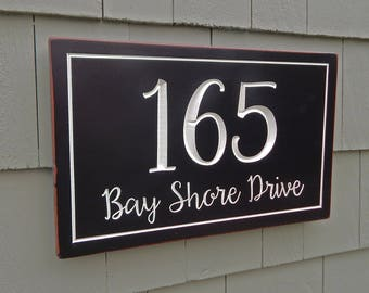 House Number Plaque | Address Sign | House Sign | House Numbers | Street Sign | Address Plaque | Carved Address Sign | Custom Address Sign