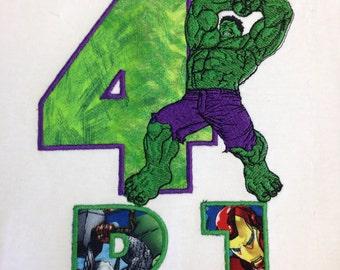 Avengers Birthday Shirt, hulk